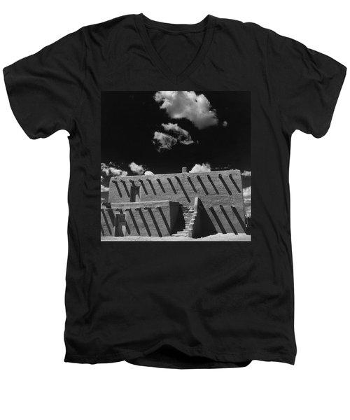 An Adobe House Men's V-Neck T-Shirt