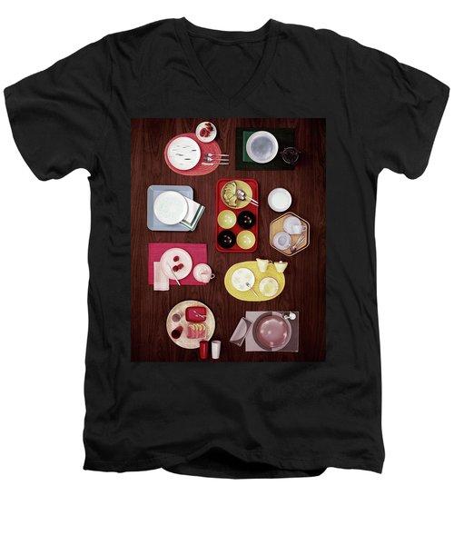An Assortment Of Dinnerware Men's V-Neck T-Shirt