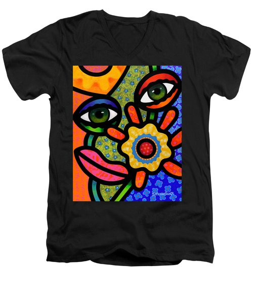 An Eye On Spring Men's V-Neck T-Shirt