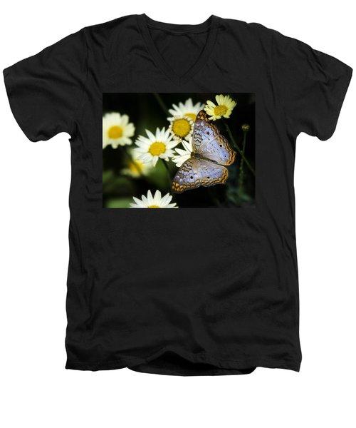 Anartia Jatrophae Men's V-Neck T-Shirt