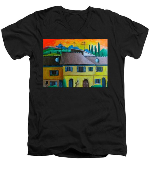 Ancient Volterra Wired Men's V-Neck T-Shirt by Victoria Lakes