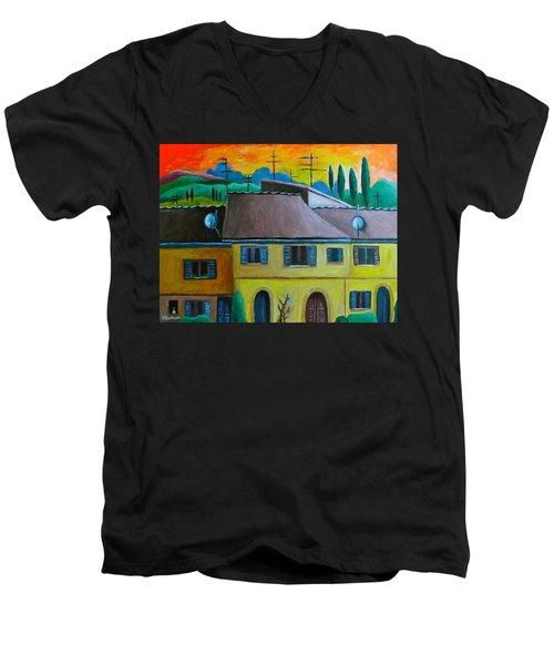 Ancient Volterra Wired Men's V-Neck T-Shirt