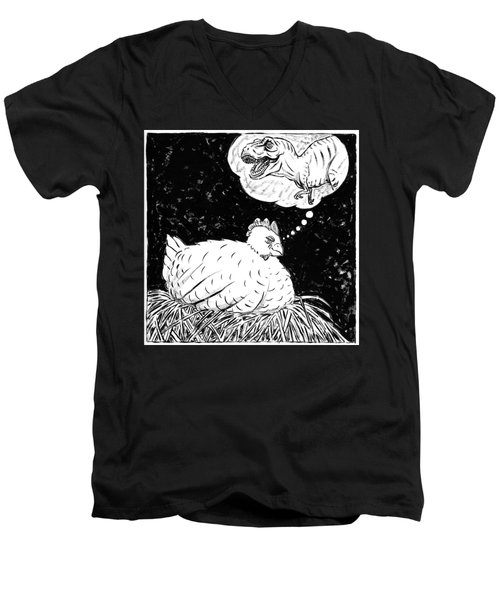 Ancestor Dreams Study Men's V-Neck T-Shirt