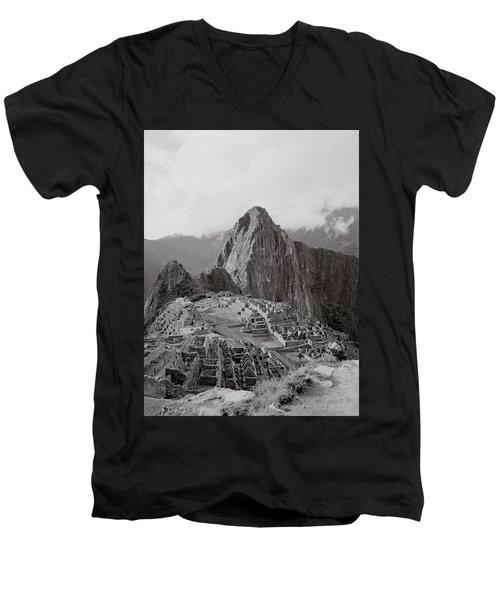 Ancient Machu Picchu Men's V-Neck T-Shirt by Shaun Higson