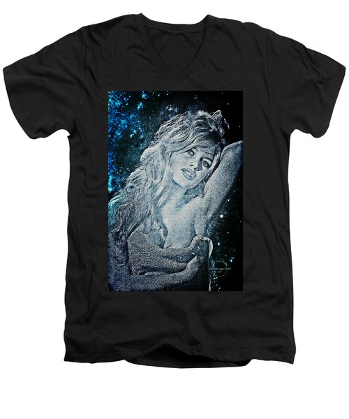 And God Created Woman Men's V-Neck T-Shirt by Absinthe Art By Michelle LeAnn Scott