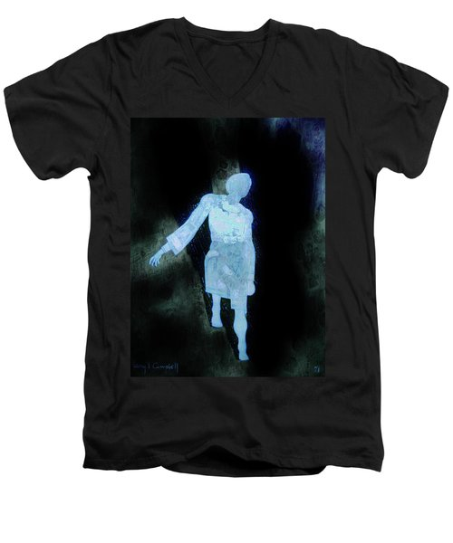 Oh That I Were An Angel  Men's V-Neck T-Shirt by Larry Campbell