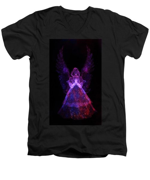 Men's V-Neck T-Shirt featuring the photograph Angel Dots by Shane Bechler