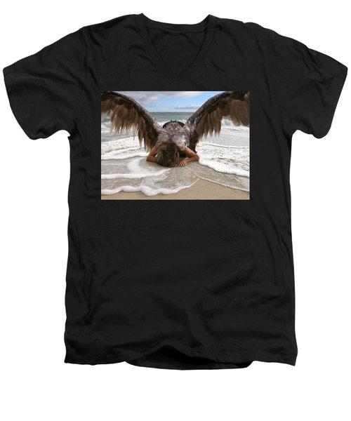 Angel- I Feel Your Sorrow  Men's V-Neck T-Shirt