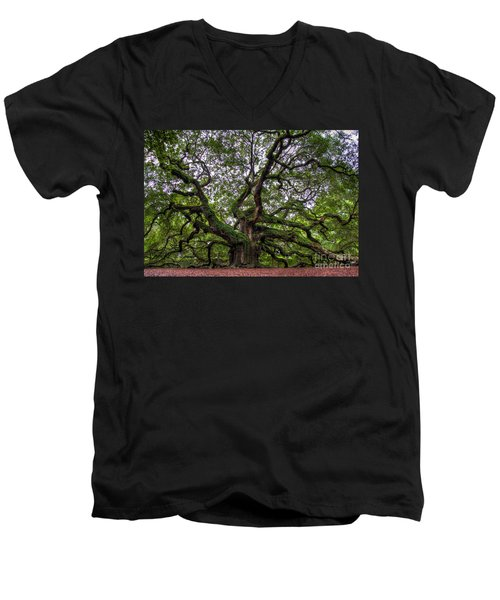 Angel Oak Tree Men's V-Neck T-Shirt