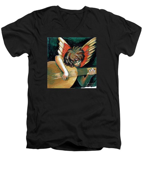 Angel With Lute Men's V-Neck T-Shirt
