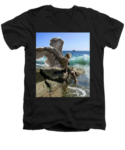 Angels- I'm Watching Over You Men's V-Neck T-Shirt