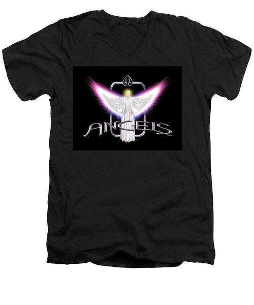 Angels Men's V-Neck T-Shirt