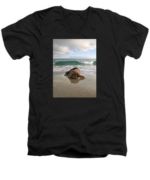 Angels- The Rapture Is Coming Men's V-Neck T-Shirt