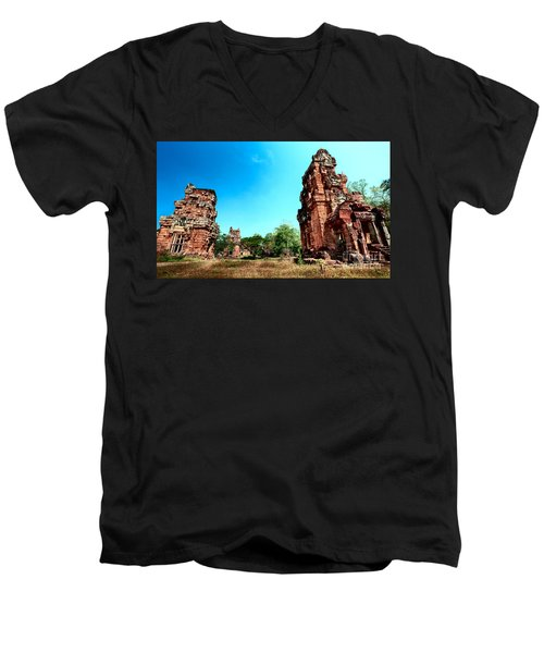 Angkor Wat Ruins Men's V-Neck T-Shirt