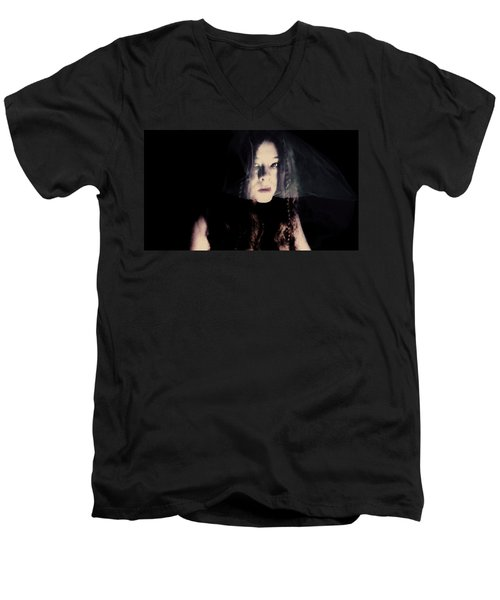 Men's V-Neck T-Shirt featuring the photograph Angry With You  by Jessica Shelton