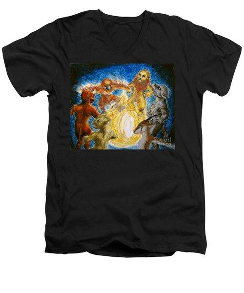 Animal Totem Dancers - Transformed Men's V-Neck T-Shirt