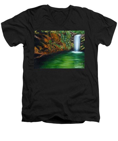 Annadale Waterfall Men's V-Neck T-Shirt