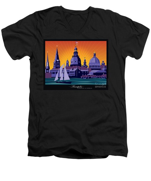 Annapolis Steeples And Cupolas Men's V-Neck T-Shirt