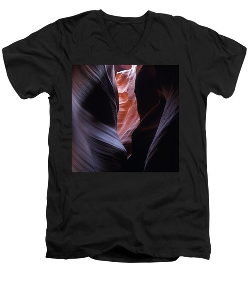 Men's V-Neck T-Shirt featuring the photograph Antelope Canyon 5 by Jeff Brunton