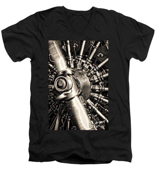 Antique Plane Engine Men's V-Neck T-Shirt