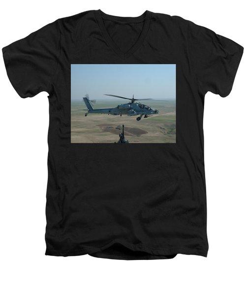 Apache Gray Men's V-Neck T-Shirt