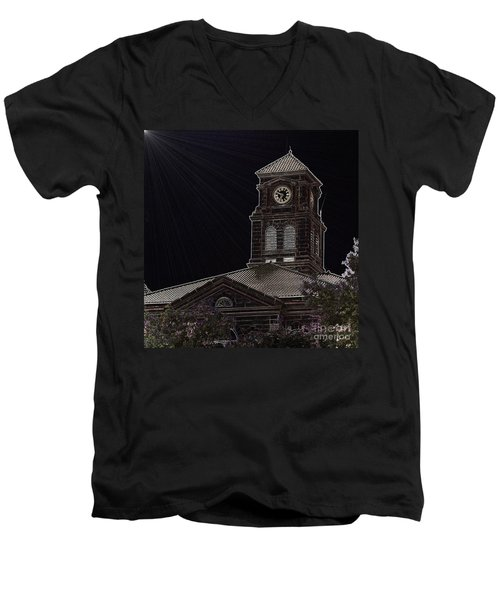 Appanoose County Courthouse Men's V-Neck T-Shirt