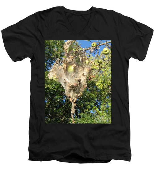 Apple Trap Men's V-Neck T-Shirt by Carol Lynn Coronios