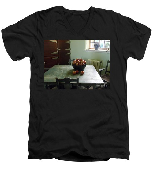 Men's V-Neck T-Shirt featuring the photograph Apples by Valerie Reeves