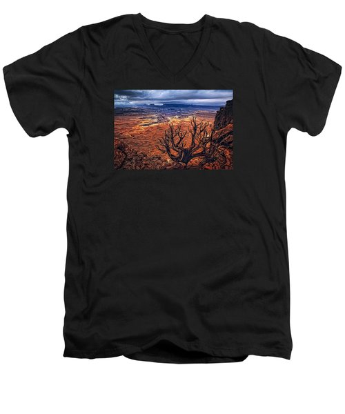 Approaching Storm Men's V-Neck T-Shirt by Priscilla Burgers