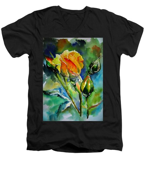 Aquarelle Men's V-Neck T-Shirt