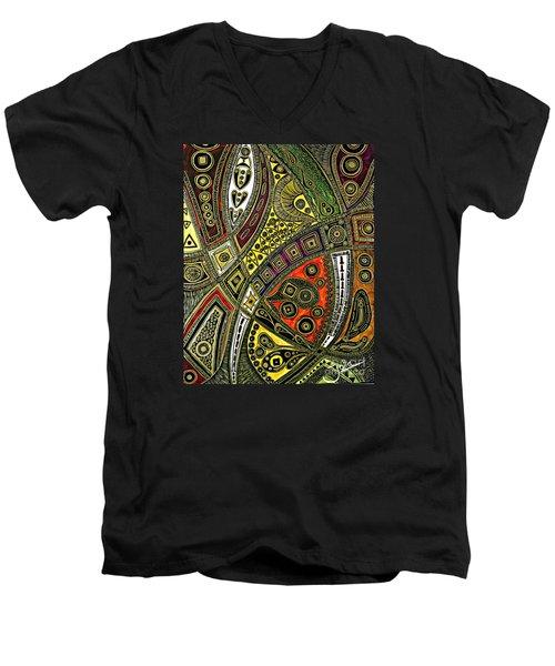 Arabian Nights Men's V-Neck T-Shirt by Jolanta Anna Karolska