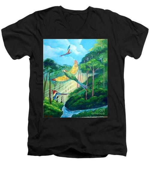 Aras On The Forest Men's V-Neck T-Shirt