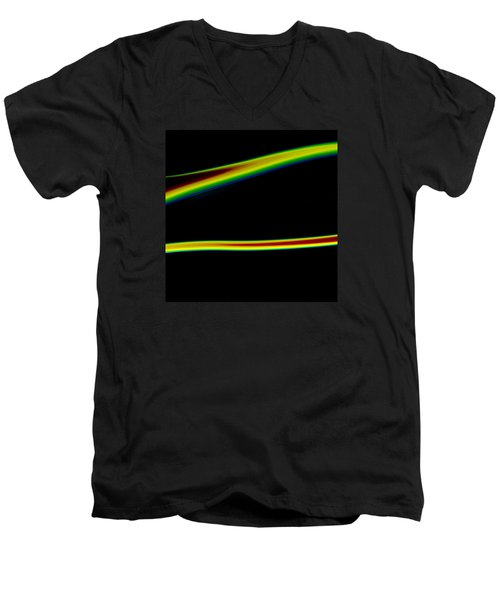 Men's V-Neck T-Shirt featuring the painting Arc C2014 by Paul Ashby