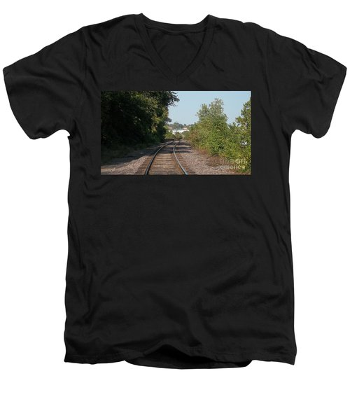 Men's V-Neck T-Shirt featuring the photograph Arch In The Distance by Kelly Awad