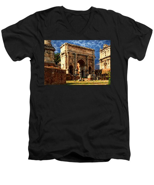 Arch Of Septimius Severus Men's V-Neck T-Shirt