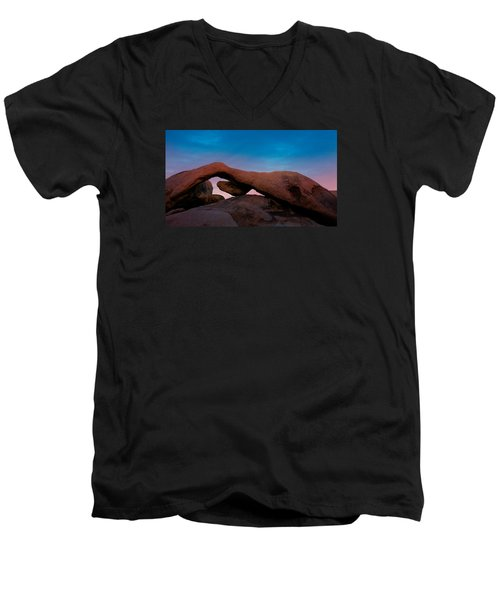 Arch Rock Evening Men's V-Neck T-Shirt