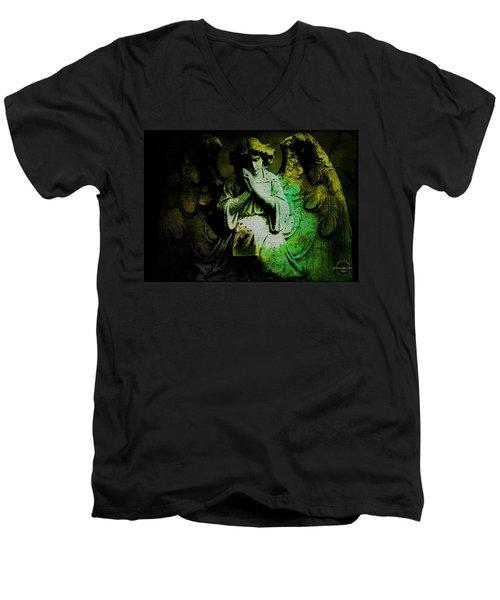 Archangel Uriel Men's V-Neck T-Shirt by Absinthe Art By Michelle LeAnn Scott