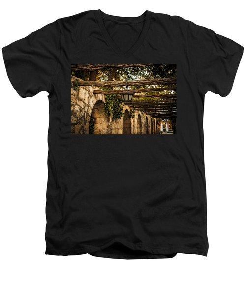 Arches At The Alamo Men's V-Neck T-Shirt