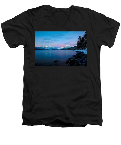 Men's V-Neck T-Shirt featuring the photograph Arctic Slumber by Aaron Aldrich