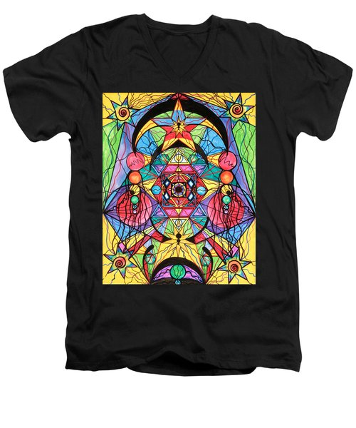 Arcturian Ascension Grid Men's V-Neck T-Shirt
