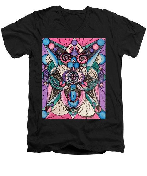 Arcturian Healing Lattice  Men's V-Neck T-Shirt