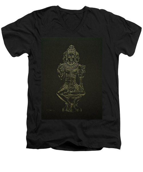 Ardhanarishvara I Men's V-Neck T-Shirt by Michele Myers