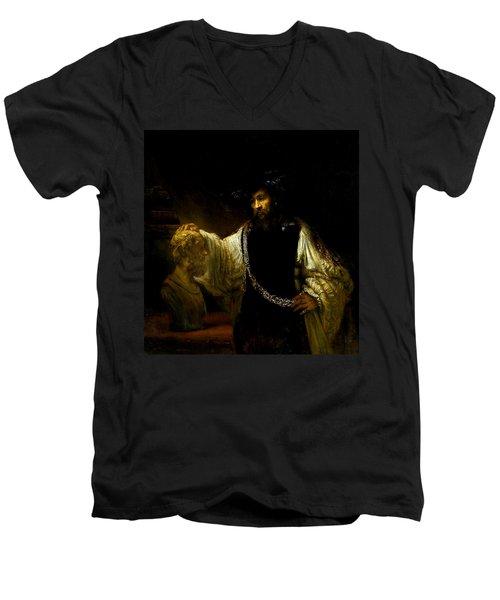 Aristotle Contemplating A Bust Of Homer Men's V-Neck T-Shirt