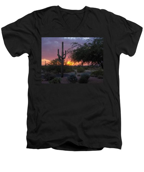 Arizona Sunset Men's V-Neck T-Shirt
