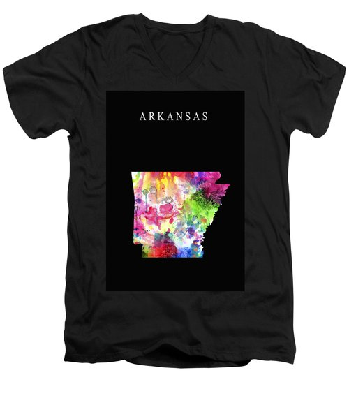 Arkansas State Men's V-Neck T-Shirt by Daniel Hagerman