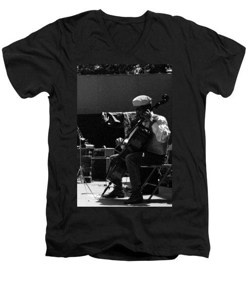 Arkestra Cellist Uc Davis Quad Men's V-Neck T-Shirt