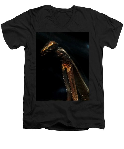 Armored Praying Mantis Men's V-Neck T-Shirt