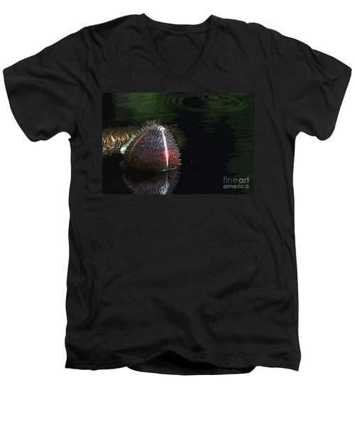 Nature's Armour Men's V-Neck T-Shirt by Yvonne Wright
