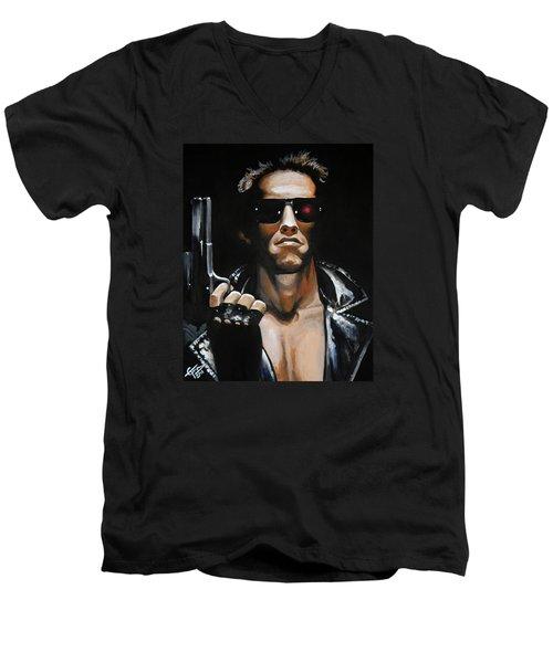 Arnold Schwarzenegger - Terminator Men's V-Neck T-Shirt