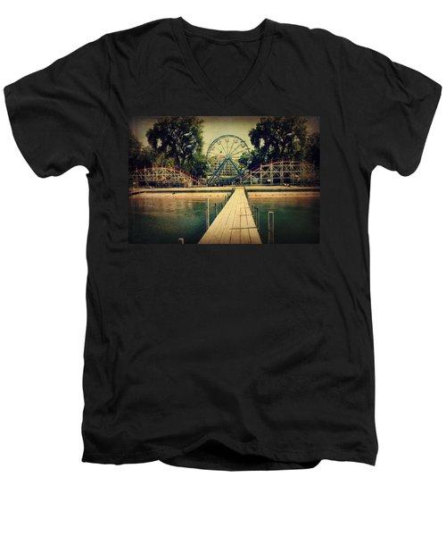 Arnolds Park Men's V-Neck T-Shirt by Julie Hamilton
